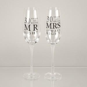 Sada 2 skleniček na šampaňské k 30. výročí Amore Mrs. Always Right, 180ml