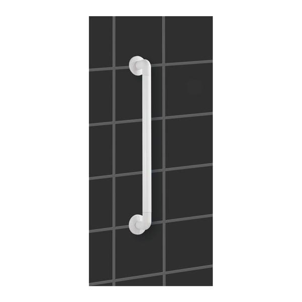 Bílé bezpečnostní držadlo do sprchy pro seniory Wenko Secura, délka 43 cm