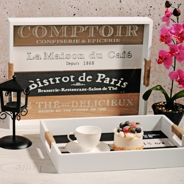 Sada 2 dřevěných táců Comptoir