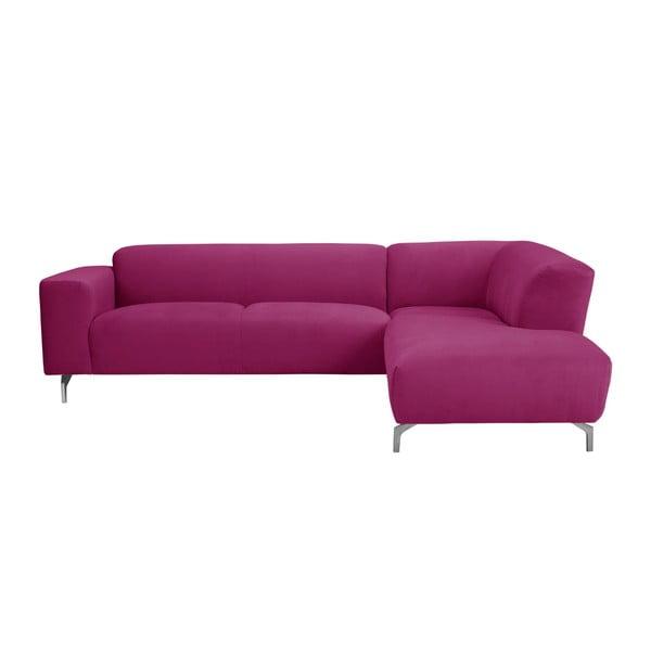 Růžová rohová pohovka Windsor & Co Sofas Orion pravý roh