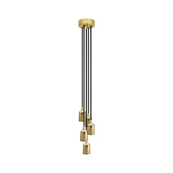 Pětice závěsných kabelů Uno, zlatý/hnědý
