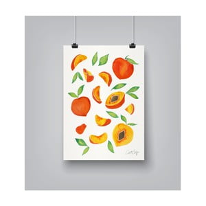 Poster Americanflat Peaches, 30 x 42 cm