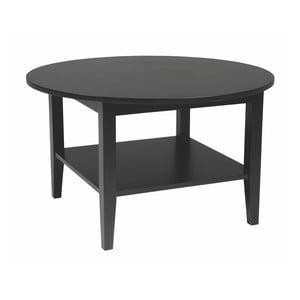 Černý kruhový konferenční stolek Folke  Baldr