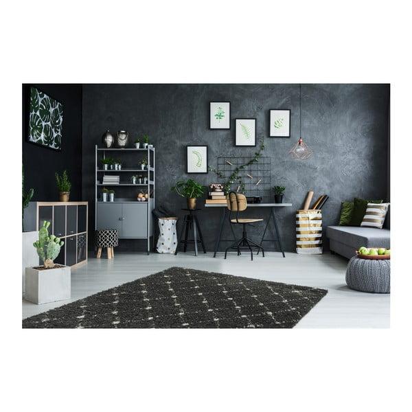 Černý koberec Obsession My Manhatten Anth, 80 x 250 cm