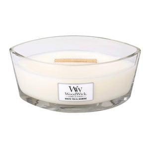 Lumânare parfumată WoodWick, aromă de ceai alb și iasomie, 453 g, 50 ore