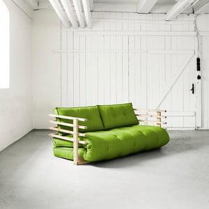 Canapea extensibilă Karup Funk Natural/Lime