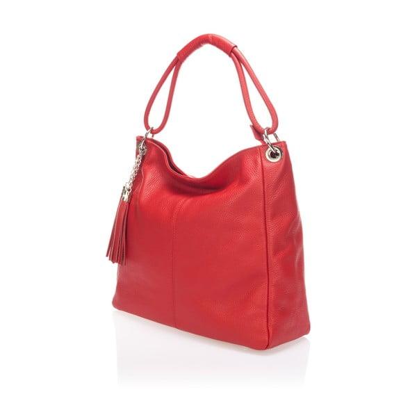 Kožená kabelka Shaan, červená