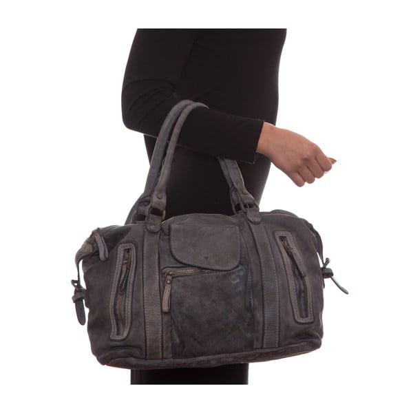 Kožená kabelka Mangotti 0001, šedá