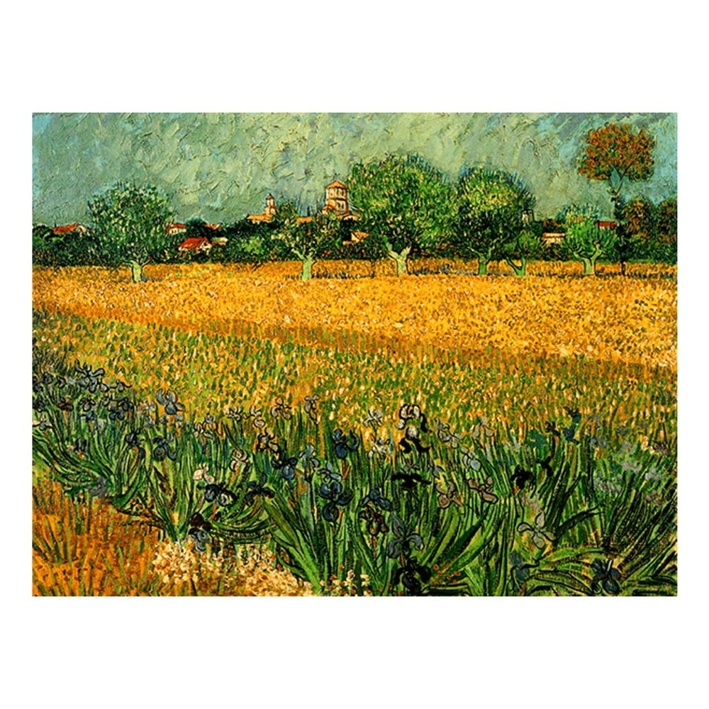 Reprodukce obrazu Vincenta van Gogha - View of arles with irises in the foreground 40 x 30 cm