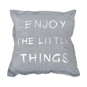 Šedý polštář Little Things, 40 x 40 cm