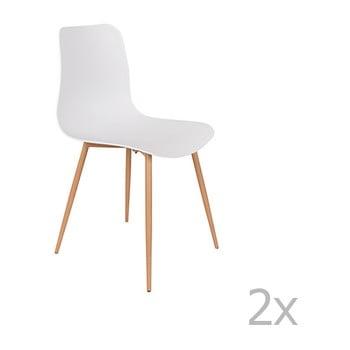 Set 2 scaune White Label Leon, alb de la White Label