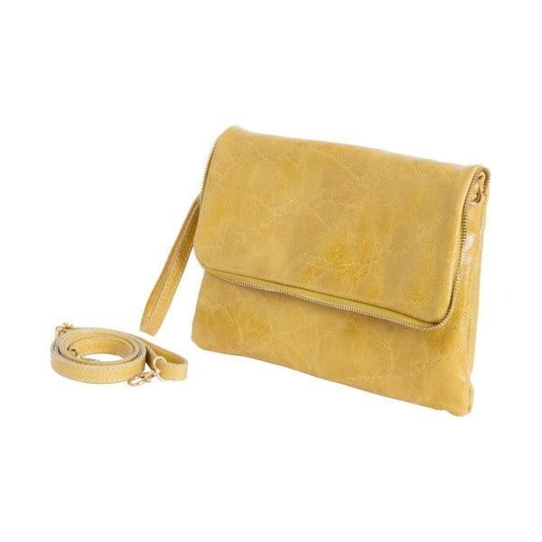 Žlutá kabelka z pravé kůže Andrea Cardone Cobalto