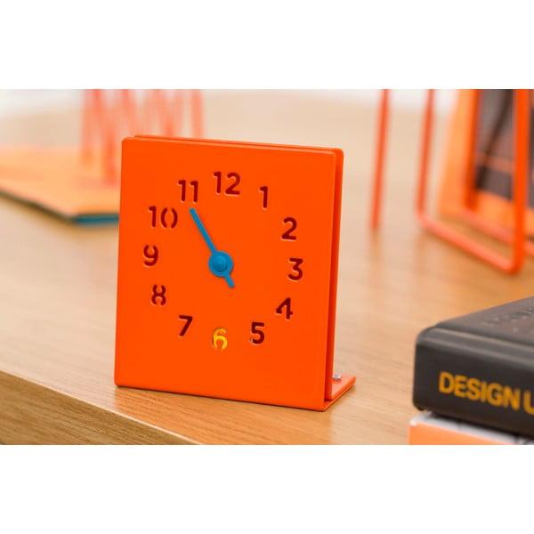 Stolní hodiny Desk Clock, oranžové