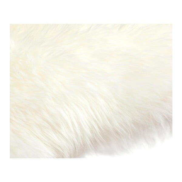 Bílá ovčí kožešina Pipsa Mouton, 110x80cm