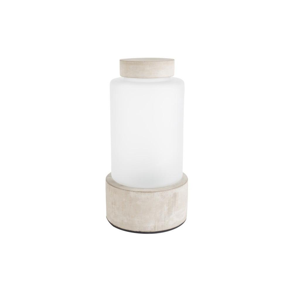 Váza s podsvícením a betonovými detaily Zuiver Reina, výška25cm