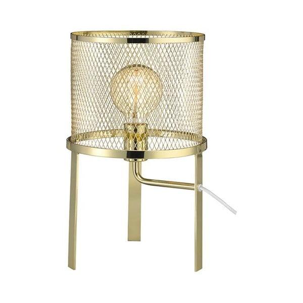 Zlatá stolní lampa Markslöjd Grid