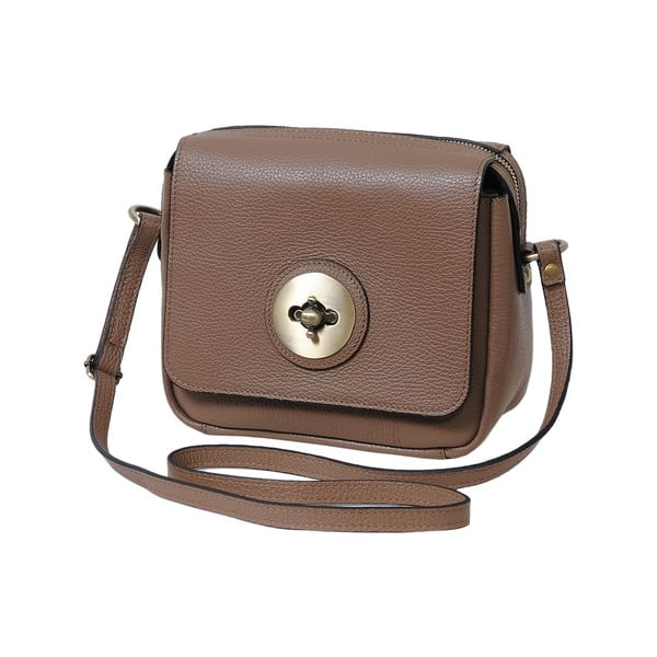 Béžová kabelka z pravé kůže Andrea Cardone Alessio