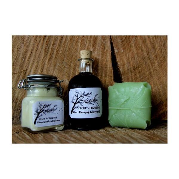 Dárková sada mýdlo, krém a olej, aloe vera