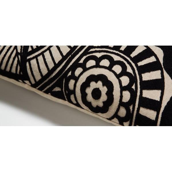 Černý polštář La Forma Minimal, 30x50 cm