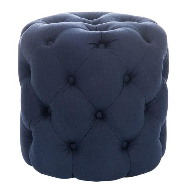 Taburetka Hassock Button, modrá