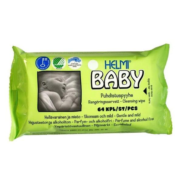 Dětské vlhčené ubrousky Helmi Baby, 64 kusů