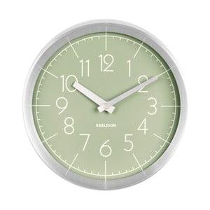 Zelené nástěnné hodiny Karlsson Convex
