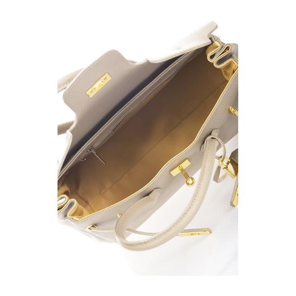 Béžová kožená kabelka Giulia Massari Filiala