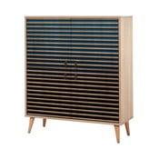 Variabilní čtyřdveřová komoda Multilux Blue Classic, 111 x 95 cm