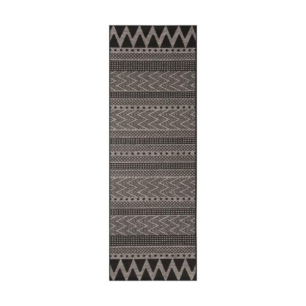Covor potrivit pentru exterior Bougari Sidon, 70 x 200 cm, bej - negru