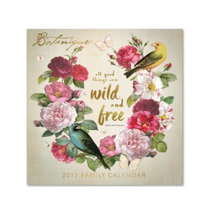 Calendar de familie Portico Designs Botanique SQ