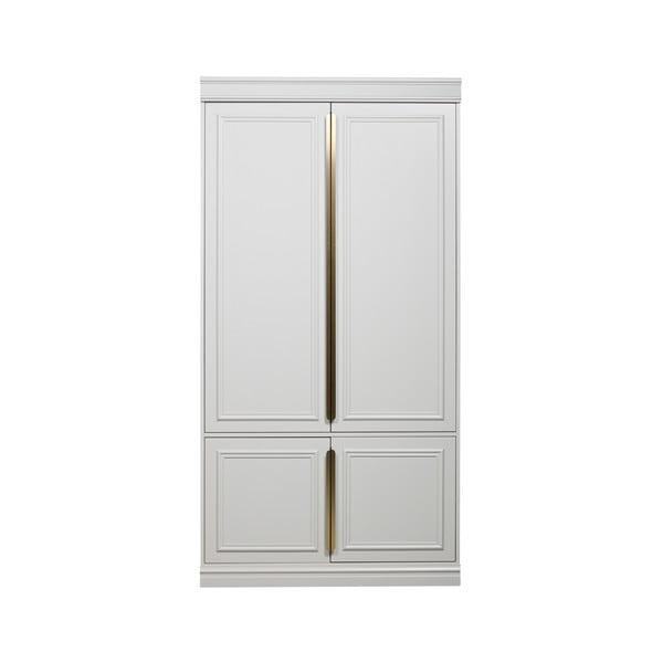 Dulap din lemn masiv de pin BePureHome, lățime 44 cm, alb