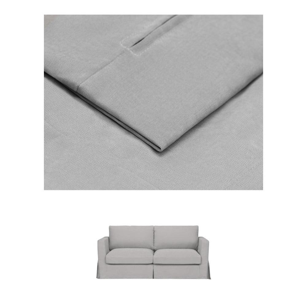 Světle šedý povlak na trojmístnou pohovku THE CLASSIC LIVING Jean