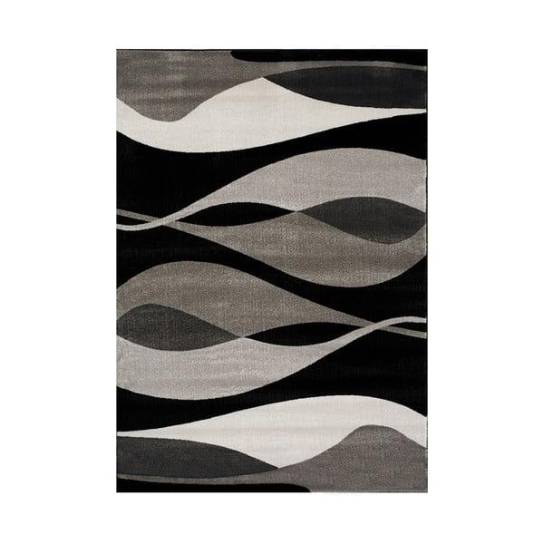 Manhattan Hudson szürke-fekete szőnyeg, 120 x 230 cm - Webtappeti