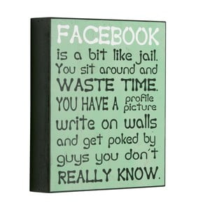 Cedule Facebook is a bit like, 25x21 cm