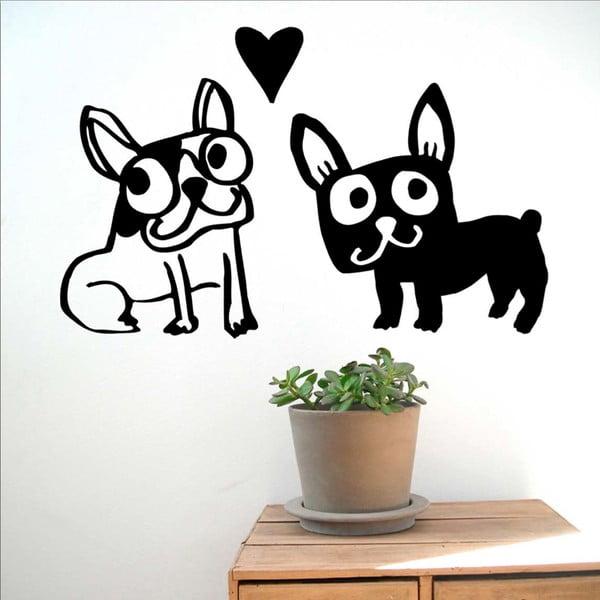 Samolepka Love my dogs, 28x31 cm