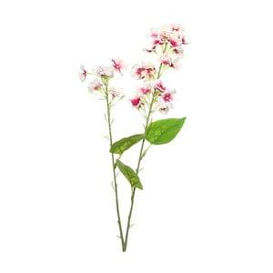Umělá květina s krémovo-růžovými květy Ixia Atieno, výška76cm