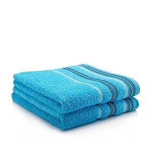 Sada 2 ručníků Hugo Turquoise, 50x90 cm