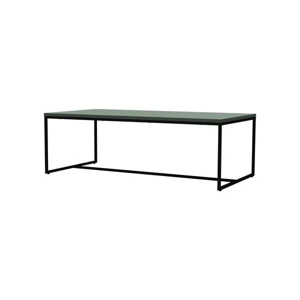 Zielony stolik z metalową konstrukcją w czarnym kolorze Tenzo Lipp