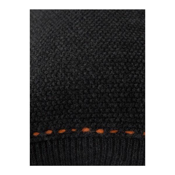 Černý polštář Zuiver Aster, 60x30cm