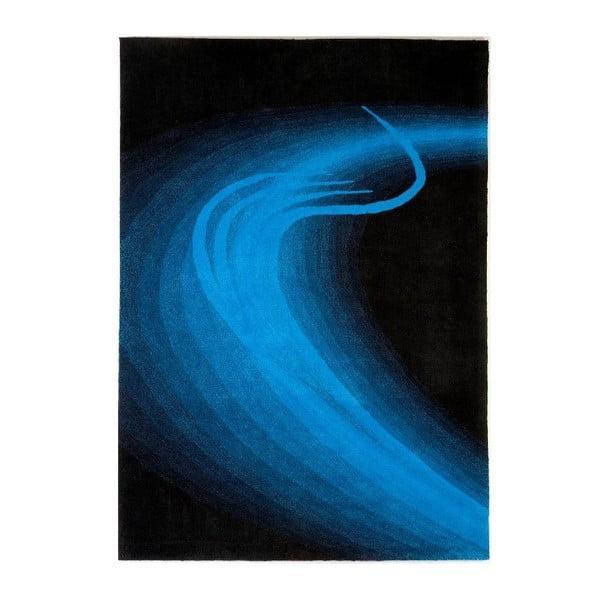 Ručně tkaný koberec San Marino, 140x200 cm, modrý