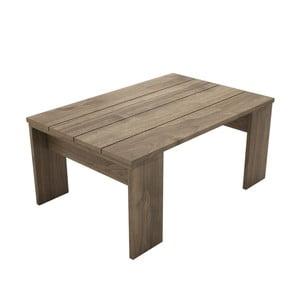 Hnědý konferenční stolek Prida