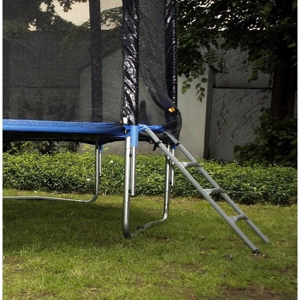 Trampolína s ochranou sítí a žebříkem, 396 cm
