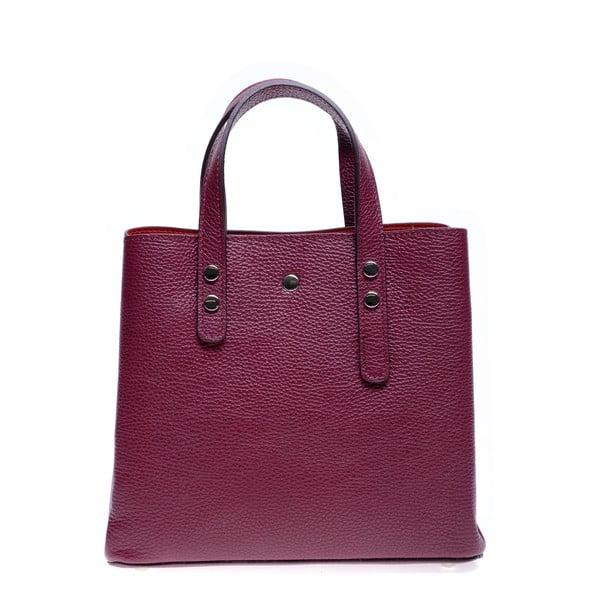Červená kožená kabelka Roberta M Galilea