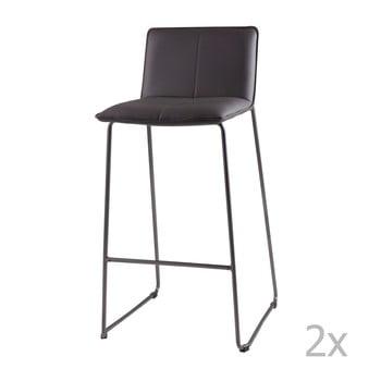 Set 2 scaune de bar sømcasa Lou, gri imagine