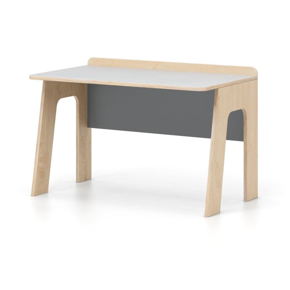 Šedo-bílý psací stůl Devoto Nimbo