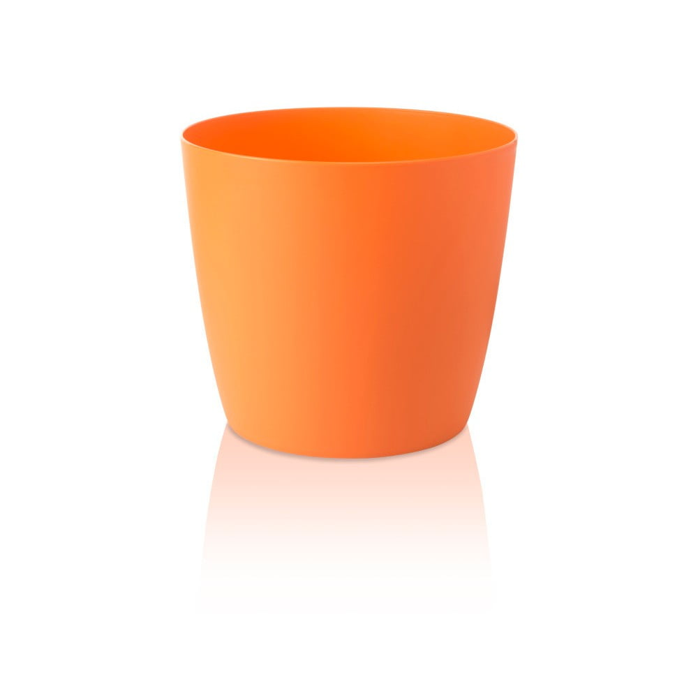 Oranžový květináč s pojízdnými kolečky Gardenico Ella Twist'n'Roll Smart System, ø 29 cm