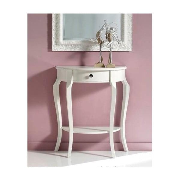 Bílý dřevěný konzolový stolek Castagnetti Annata