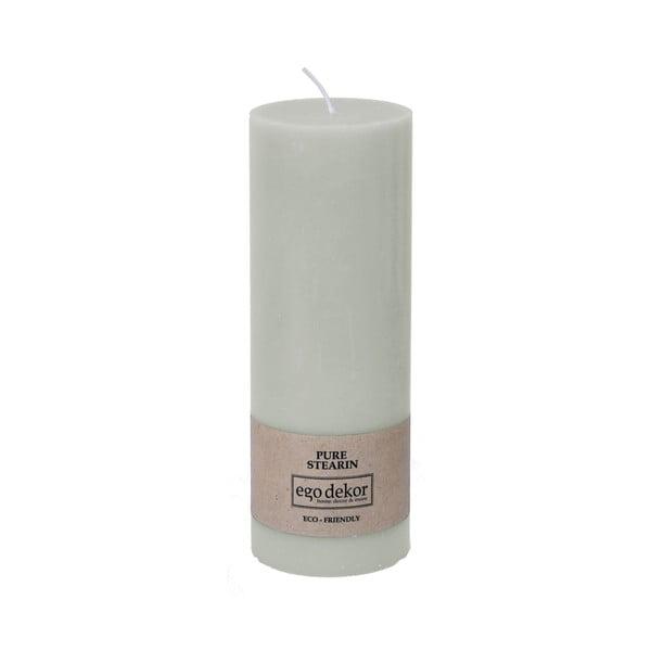 Tyrkysově modrá svíčka Baltic Candles Eco, výška 20cm