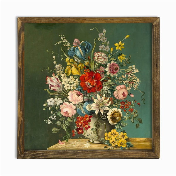 Tablou Vintage Flowers, 50 x 50 cm