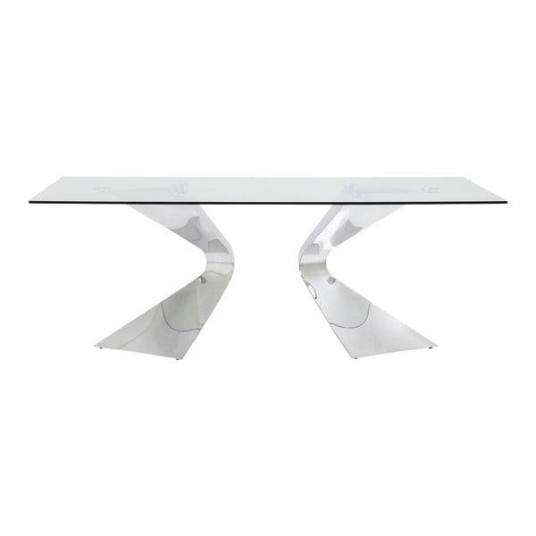 Jídelní stůl s nohami ve stříbrné barvě Kare Design Gloria